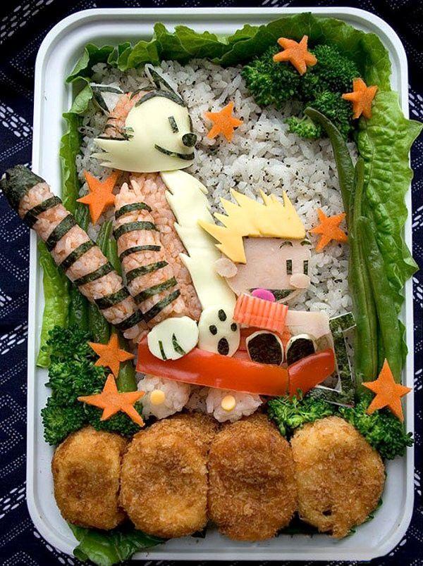 Casper en Hobbes maaltijd