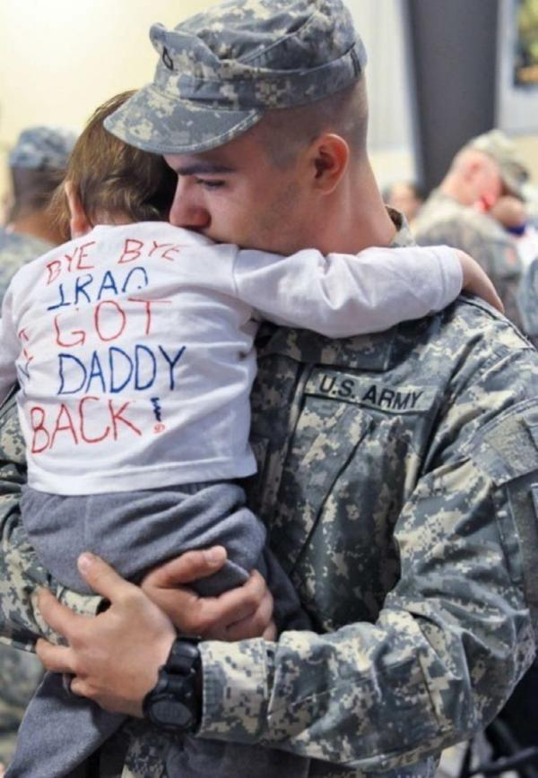 Bye Bye Iraq, I got my daddy back
