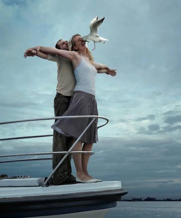 Romantische Titanic scene
