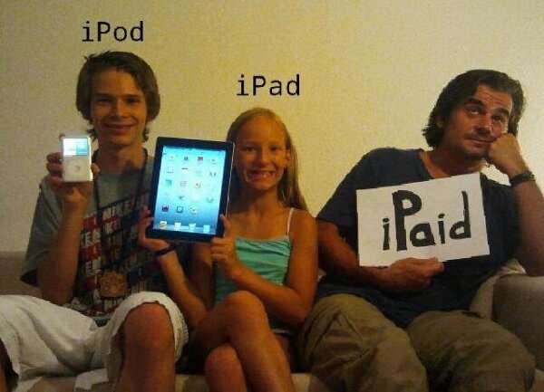 iPod, iPhone, iPad, iPaid
