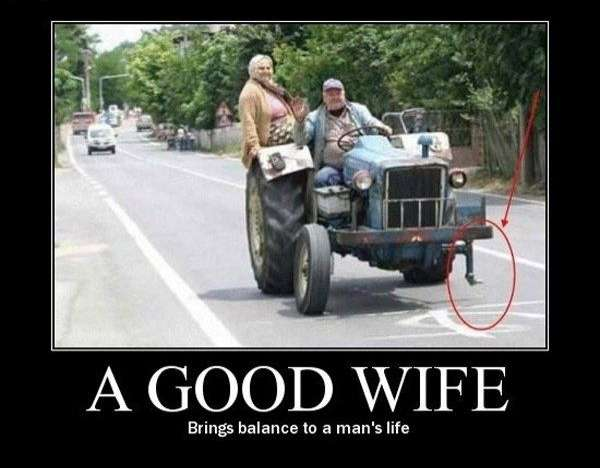 Een stevige vrouw zorgt voor een goede balans