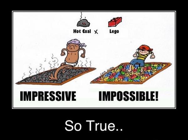 Hete kolen vs Lego blokjes