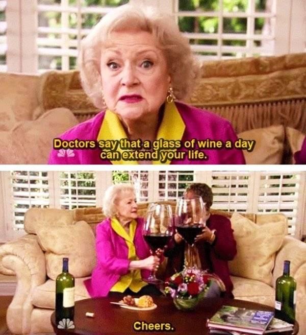 1 glas wijn per dag is heel gezond