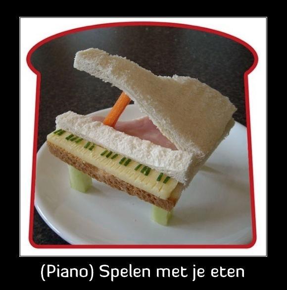 Piano Spelen Met Je Eten Grappige Plaatjes