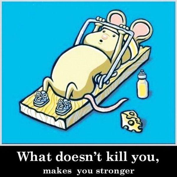 Wat niet doodt, maakt je sterker!