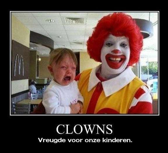 Clowns zijn altijd zo leuk met kinderen, toch?