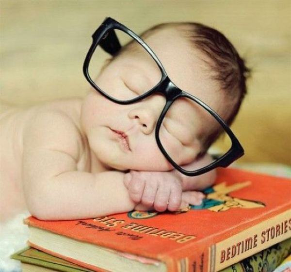 Tijdens het lezen in slaap gevallen