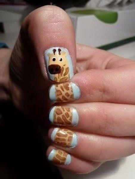 Giraffe nagels | Grappige Plaatjes: www.pinguinpablo.nl/plaatjes/880